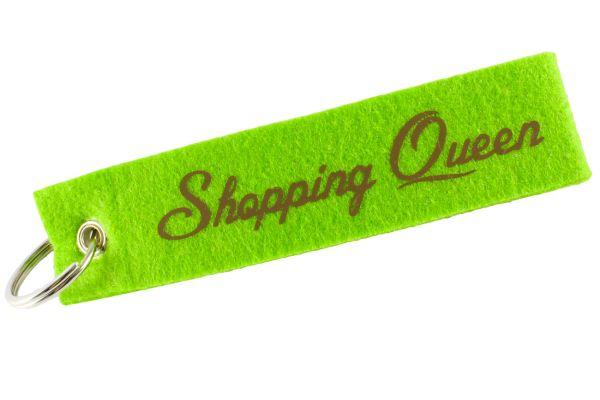"""Filz Schlüsselanhänger """"Shopping Queen"""""""