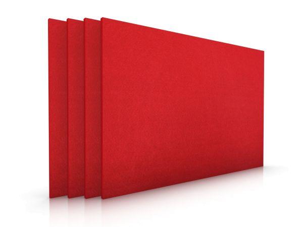 Eckiges Filz-Platzset im 4er Set rot