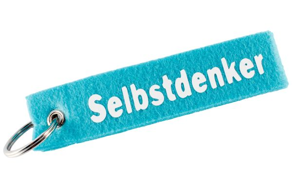 """Filz Schlüsselanhänger """"Selbstdenker"""""""