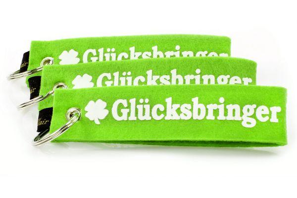 """3er Set Filz Schlüsselanhänger """"Glücksbringer"""""""