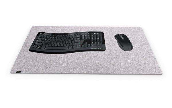Filz Schreibtischmatte graumeliert
