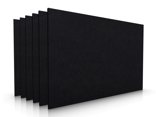 Square felt placemat set of 6 black