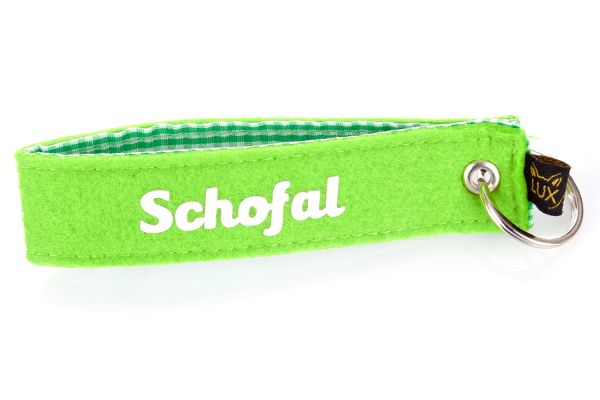 Bayerischer Filz Schlüsselanhänger Schofal