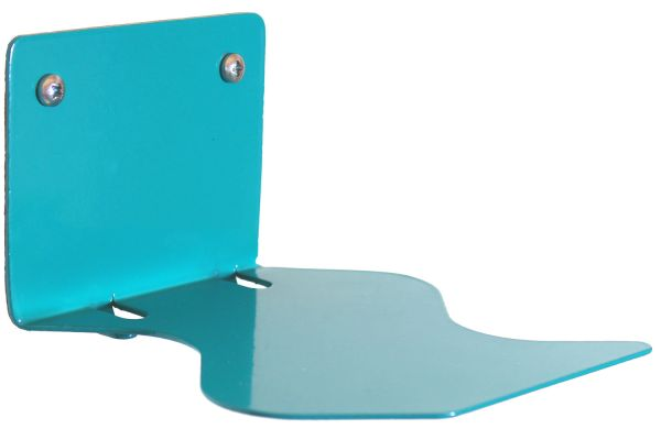 Floating books turquoise, design edition in S-shape
