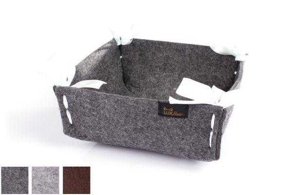 Felt bread basket small dark grey