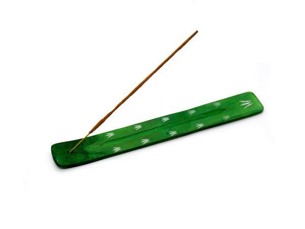 Räucherstäbchenhalter grün aus Rosenholz