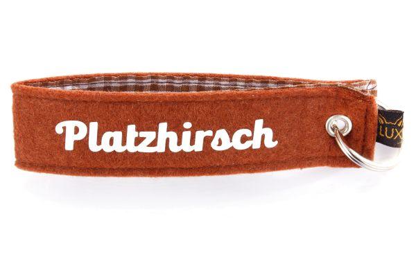 Bayerischer Filz Schlüsselanhänger Platzhirsch