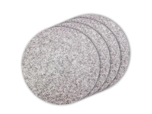 4er Filz-Platzset graumeliert, rund Ø 35cm