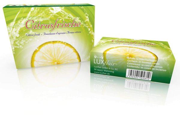 Räucherkegel: Citrusfrische