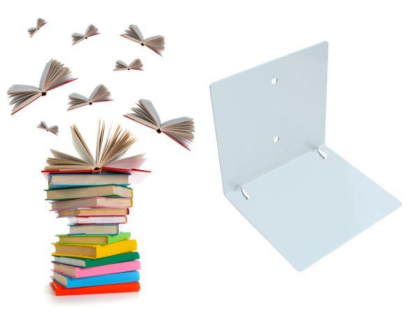 Schwebende Bücher: unsichtbares Regal