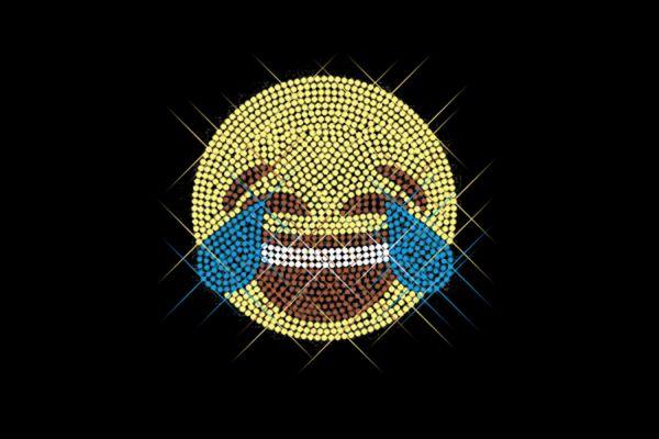 """Strassstein Motiv """"Emoji Tränen lachen"""""""