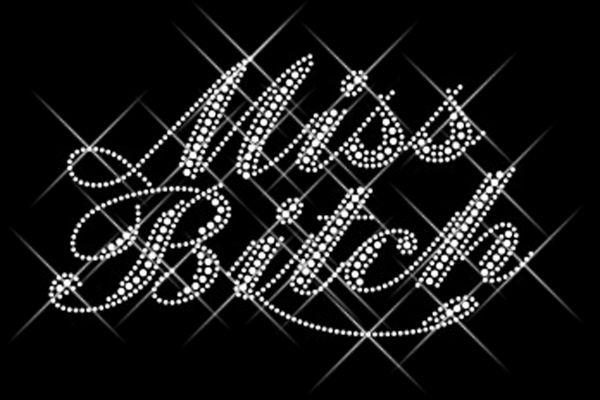 """Strassstein Motiv """"Miss Bitch"""""""
