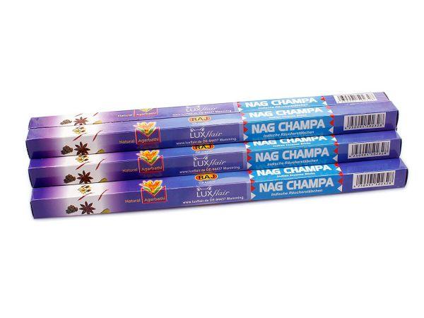 Räucherstäbchen Nag Champa, XL Set mit 10 Packungen