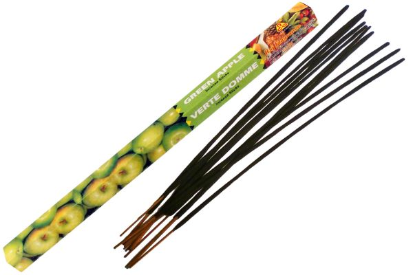 Incense sticks green apple