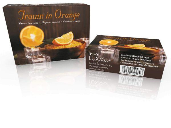 Räucherkegel: Traum in Orange