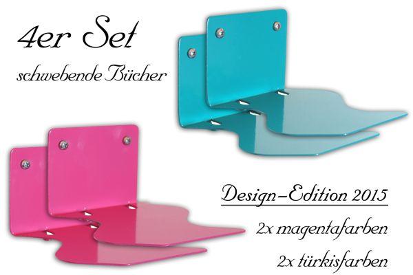 Schwebende Bücher 4er Set in der Design-Edition