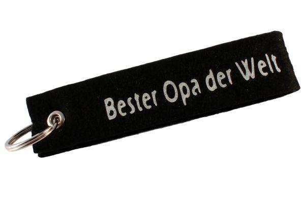 """Filz Schlüsselanhänger """"Bester Opa der Welt"""""""