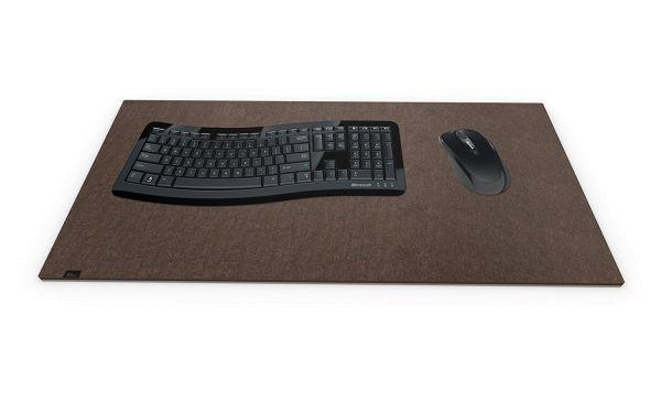 Filz Schreibtischmatte braun