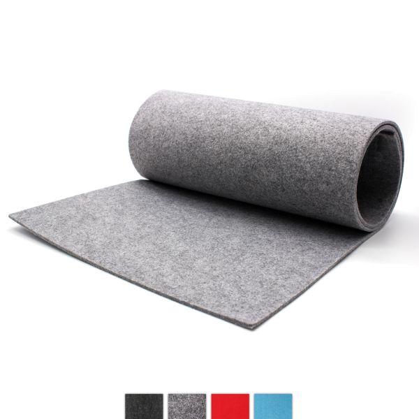 Chemin de table en feutre grisâtre CASORO 40x150