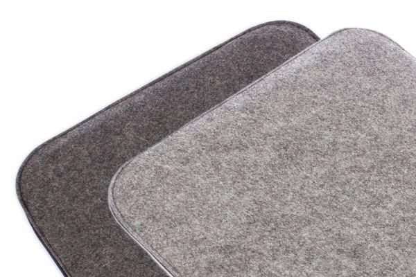 Coussin de siège en feutre 2 couleurs pour tourner en gris foncé et gris chiné