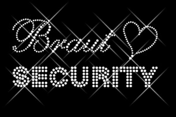 """Strassstein Motiv """"Braut Security"""""""