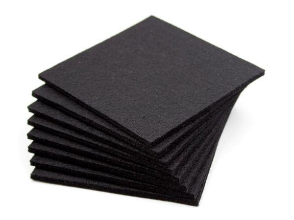 8pcs Felt Glass Coasters black