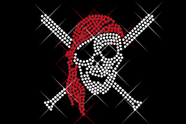 "Strassstein Motiv ""Piraten-Totenkopf"""