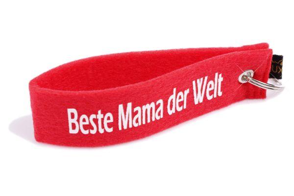 """Filz Schlüsselanhänger """"Beste Mama der Welt"""""""