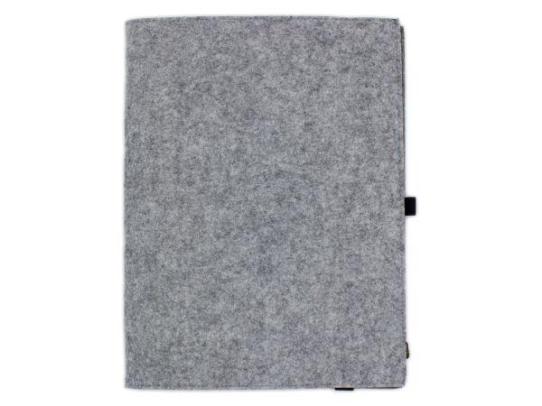 Filz Notizbuch graumeliert A4