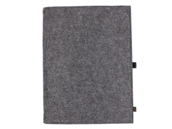 Filz Notizbuch dunkelgrau A4