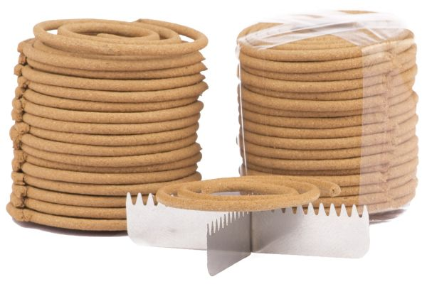 68x Räucherspiralen 35mm aus 100% Sandelholz inkl. Spiralständer