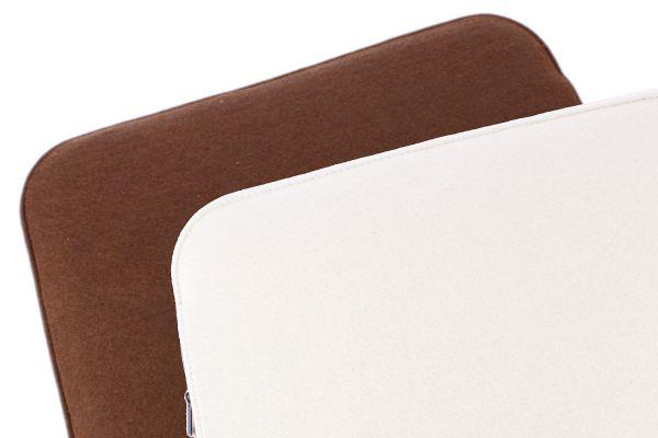 Coussin de siège en feutre 2 couleurs à tourner en marron et blanc crème