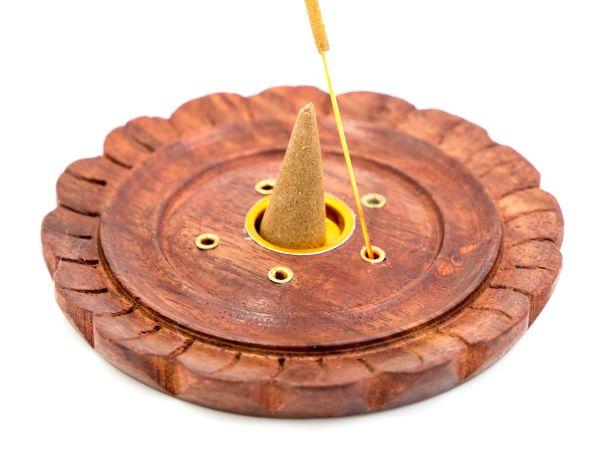 Porte-cônes d'encens en bois de sheesham
