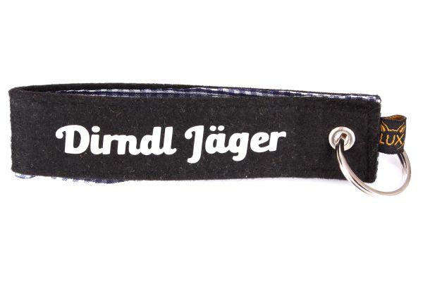 Bayerischer Filz Schlüsselanhänger Dirndl Jäger