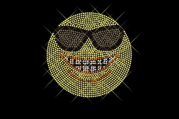 """Strassstein Motiv """"Emoji Sonnenbrille"""""""