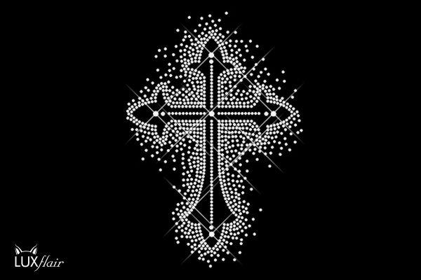 """Strassstein Motiv """"Kreuz"""""""