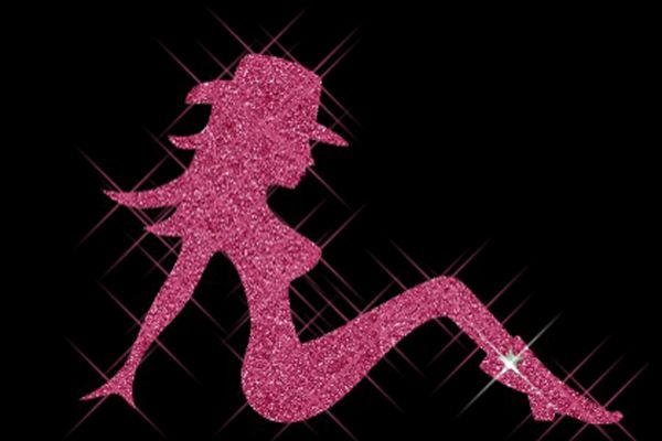 "Glitter Motiv ""Sexy Lady"""