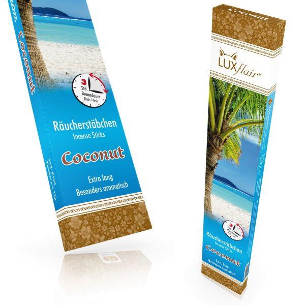 XXL Räucherstäbchen Coconut, 20 Stück á 3 Std Brenndauer