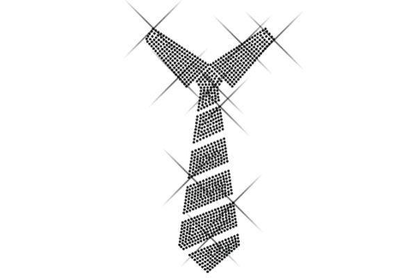 """Strassstein Motiv """"Krawatte"""""""