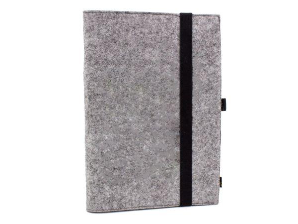 Filz Notizbuch graumeliert A5