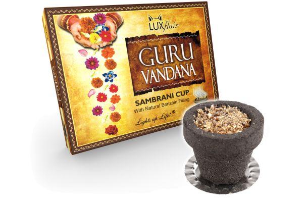 12x pots d'encens remplis de résine de benjoin (Guru Vandana)