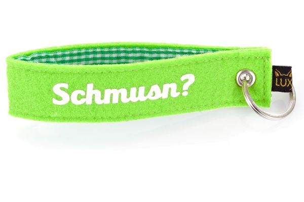 Bayerischer Filz Schlüsselanhänger Schmusn?