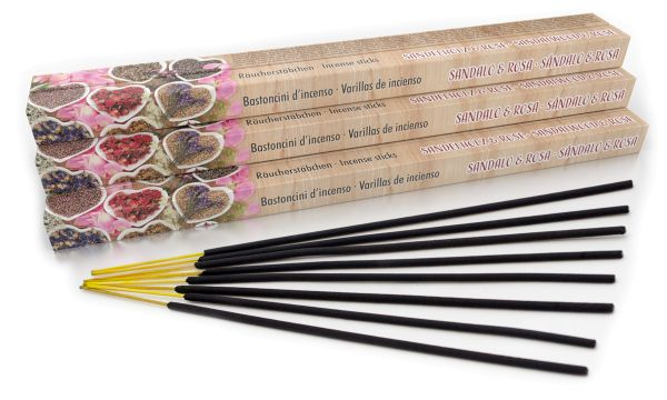 Incense Sticks Sandalwood Rose Set of 10