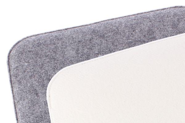 Filz Sitzkissen 2 farbig zum Wenden in graumeliert und cremeweiß