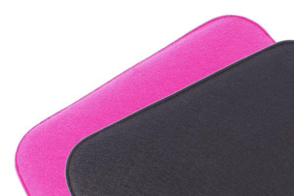 Filz Sitzkissen 2 farbig zum Wenden in schwarz und brombeer