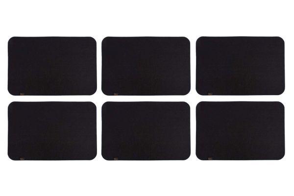 Felt place mat set of 6 in black