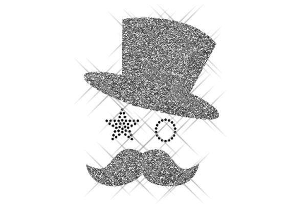 """Strassstein Motiv """"Mustache Man"""""""