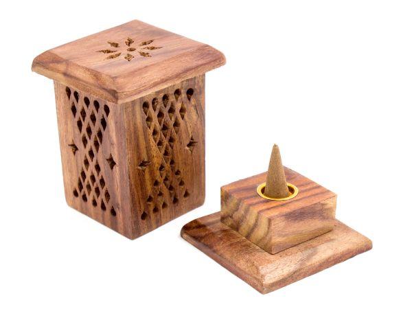 Räucherkegel-Turm aus Sheesham-Holz