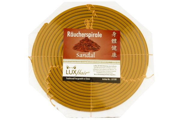 1 Tag Räucherspirale mit Sandelholz-Duft