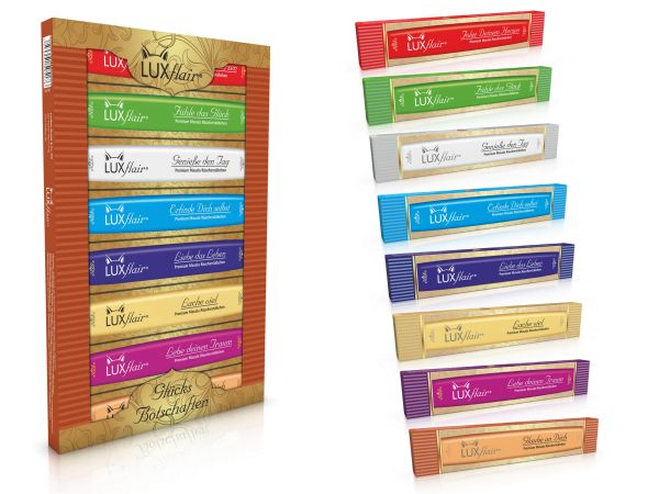 Masala incense sticks - 8 good luck messages